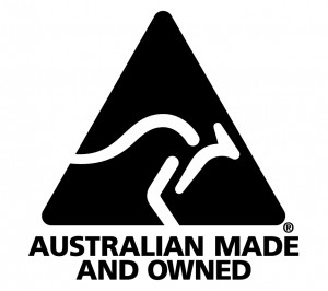 Australian Made & Owned black-white logo